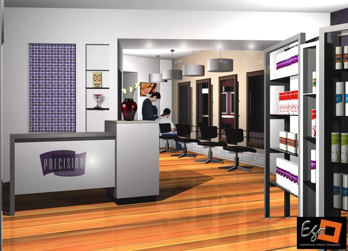 Beauty hair ego squared for Hair salon interior design photo
